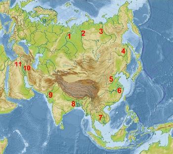 Ríos de Asia