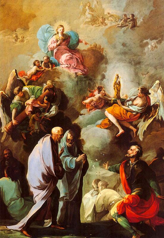 Goya Aparición de la Virgen del Pilar a Santiago