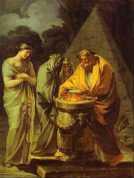 Goya Sacrifio a Vesta